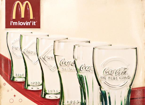 McDonald's Retro Coca-Cola Tin Sign Photo By Oli Kellett