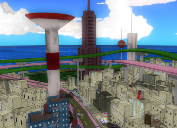 Playstation Animation Cityscape