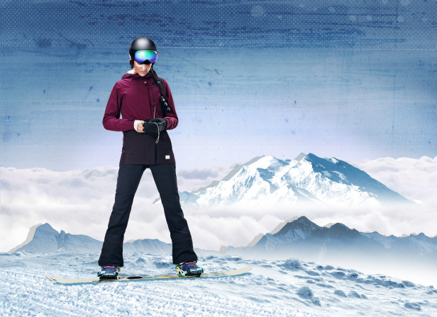 Defy the Elements Snowboarding Mountains Nike