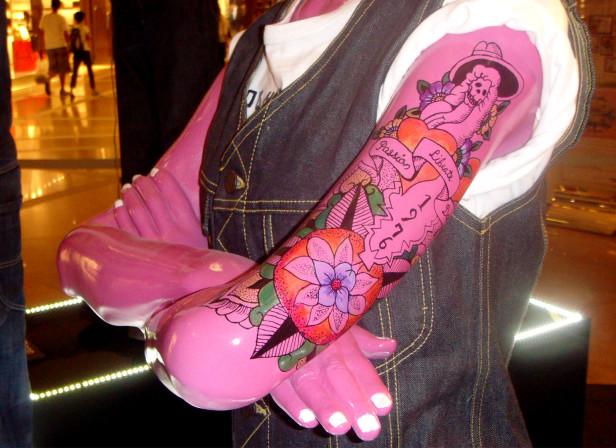 LEE Mannequin Tattoos Hong Kong