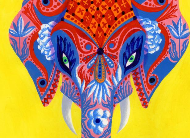 Indian Elephant Art