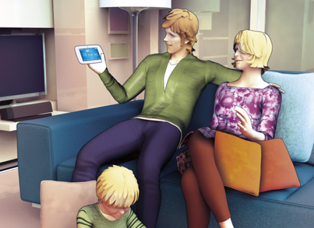 British Gas Smart Meter Family / The Telegraph