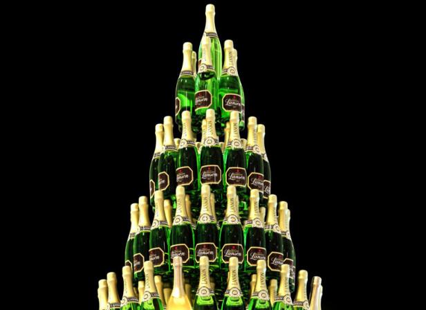 St Pancras Champagne Tree