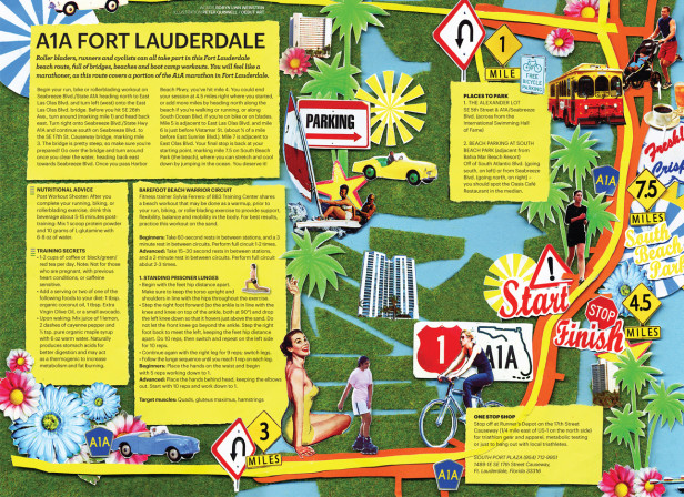 Running Cycling Map Fort Lauderdale