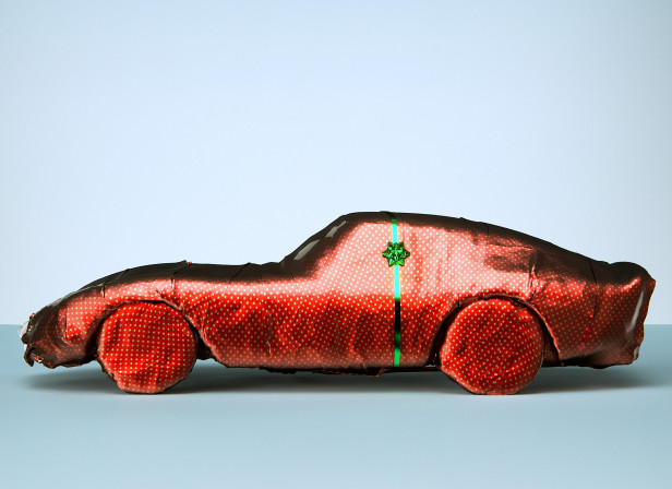 Gift Wrapped Sports Car Mens Health Magazine